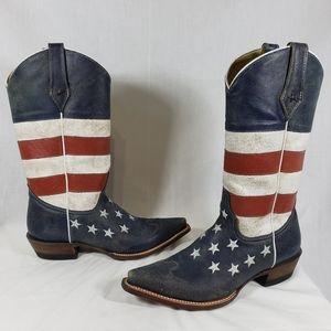 Roper American Flag boots sz 9
